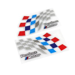 Wholesale Car Body Sticker Racing - Car Styling Perfect Motor Reflective Window Stickers M Logo Racing Body Stickers For BMW 3 5 Series E39 E90 E36 F30 X5 X6