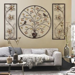 Wholesale Chinese Paintings For Decoration - Artistic Metal Painting Wall Hanging Chinese Element Decoration for home and lobby