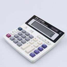 Wholesale Portable Calculators - Wholesale- Electronic 12 digits portable calculator solar desk calculator DS-200ML Office shop home using DS-200ML Commercial Tool