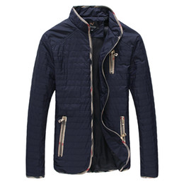 Wholesale Mandarin Coat - Wholesale- Mens jacket spring autumn coats big size 4Xl 5XL 6XL 7XL black outwear navy male clothes new 2016 casual fashion thin padded