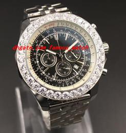 Wholesale Chronometer Quartz - AAA Sale Men Stopwatch Big Diamonds Quartz Chronometer Watch Chronographe Certifie Editon Speciale Etanche Syeel Casual Men Watch