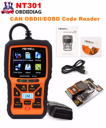 Wholesale Korea Polish - Foxwell NT301 CAN OBDII EOBD Code Reader Support Multi-Languages better than AUTEL AL519
