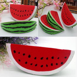 Wholesale Kids Squeeze Toy - Watermelon Squishy Kawaii 14.5cm Jumbo Decoration Super Slow Rising Toy Squeeze Soft Stretch Scented Bread Cake Fruit Fun Kids Toys Gift