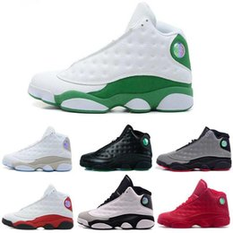 Wholesale Black Dirty - Hot sale Discount Mens Air Retro 13 shoes XIII Dirty bred basketball shoes black gym red black Mens women Sports Shoes Trainers Teenager