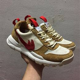 Wholesale Laces Yard - Tom Sachs x Craft Mars Yard 2.0 TS NASA Running Shoes for men AA2261-100 Natural Sport Red Shoe Zapatillas Vintage With Shoes Box