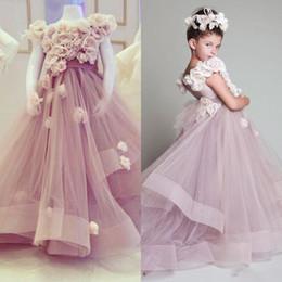 Wholesale Krikor Jabotian Flower Girl Dresses - Vintage Krikor Jabotian Flower Girl Dress For Weddings Pretty Tiered Kids First Communion Dress Lovely Little Girl Pageant Dress 2017
