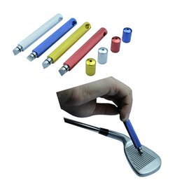 Wholesale V Groove - Wholesale Golf Clubs Iron Wedge U & V Groove Sharpener Cleaner Cleaning Tool 4 Colors Golf Club Head Grooving Tool free shipping