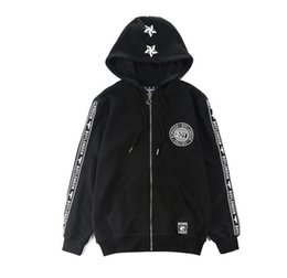 Wholesale Long Sleeve Cotton Zippered - free shipping newest london boy Eagle Star zippered hoodie coat hooded sweater coat zipper cardigan justin bieber lovers clothing