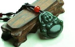 Wholesale Tian Necklace - Hetian Buddha public natural and Tian Yuqing jade Buddha pendant jade necklace Buddha head necklace pendant