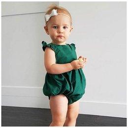 Wholesale Girls Onesie Pajamas - kids clothing baby rompers New 2017 Ruffle Fly Sleeve Summer Girls Onesie Cute Fashion Newborn Bodysuit Infant pajamas C594