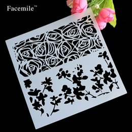 Wholesale Dragonfly Inks - Wholesale- Flowers Dragonfly Spilling Ink Layering Stencils For DIY Scrapbooking photo album Decorative Embossing Paper Cards Crafts Stamps