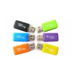 Wholesale Readers High Speed - 300pcs lot Wholesale - cheapest NEW High Speed USB 2.0 Micro SD T-Flash TF M2 Memory Card Reader adapter