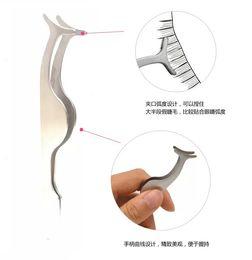 Wholesale Eyelashes Auxiliary Clip Tweezers - Wholesale-1pcs Practice New False Eyelashes Curler Clip Clipper Eye Lash Auxiliary Tweezers Eyelashes Aid Beauty Makeup Tools ND059