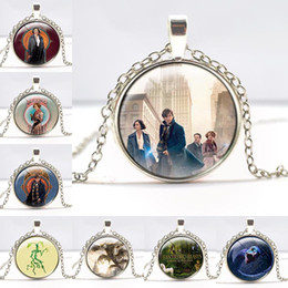 Wholesale Glass Jewelry Findings - Fantastic Beasts and Where to Find Them Necklace Glass Pendant For Women Men Jewelry Pendent Toys for Girl 161739