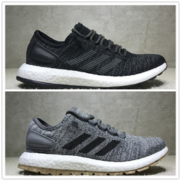 Wholesale Size 45 Boots - Adidas Pure BOOST LTD 2017 Men's Running Shoes PureBOOST Size 40-45 Men Nmd R1 Running Shoes For Men Boots Ultra Boost Shoes Sneakers