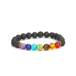 Wholesale Turquoise Jewelry Men Ring - Trendy Lava Rock Stone Beads String Healing Bracelet Natural Turquoise Stone Bead Bracelet For Men Women Jewelry Gift
