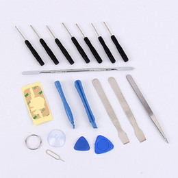 Wholesale Screwdriver Set Cell Phone - 18pcs Set Cell Phones Opening Pry Repair Tool Kit Screwdrivers Tools Set Ferramentas Kit For iPhone 4 4s 5s 5 5c 5s 6 6s 7 Plus