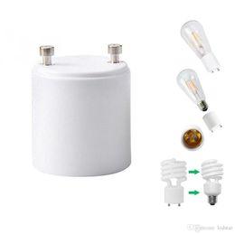 Wholesale Gu24 Base Led Bulb - GU24 To E26 E27 LED Light Base Bulb Lamp Holder Adapter Socket Converter Screw Socket Adapter Fireproof