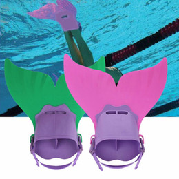 Wholesale Fins For Diving - Mermaid Fins Fun Flipper Tail Monofin Mermaid Fin Swimmable Mermaid Tail Fin Diving Swimming Gear Flipper For Kids 3 Colors OOA1945