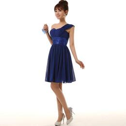 Wholesale Short Bridesmade Dresses - royal blue chiffon custom size modern girls bridesmaid bridesmade short dress patterns bridemaid sister dresses 2017 H2698