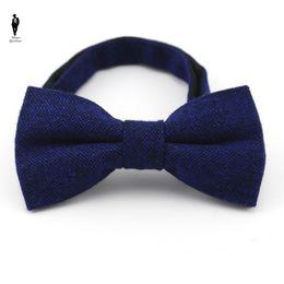 Wholesale Wool Shirts For Men - UR 29 Blue Wool Elegant British Style Cotton Men Bow Tie Classic Tie Bowtie For Men Male Bussiness Shirts Tie Cravats Accessories