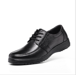 Wholesale hotels business - 2017 new men's casual shoes round head big head daily work shoes hotel kitchen work business soft shoes