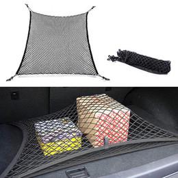 2019 audi a4 bracciolo Universal Car Back Rear Trunk Sedile Elastico String Mesh Net Cargo Organizer Carrying Storage Bag Bagagli Holder 4 Ganci Splendida CDE_004