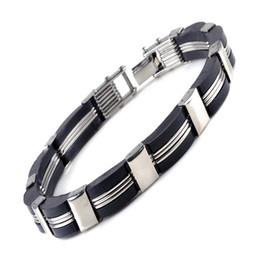 Wholesale Spotted Gift Boxes - Hot spot Japan, Japan, South Korea genuine silicone men's stainless steel bracelet bracelet wholesale free distribution
