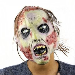 Wholesale Horror Figures - Incident Mask Terrible Face Zombie Evil Figures Horror Halloween Full Face Latex Mask Festival Party Supplies Halloween
