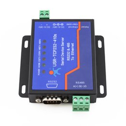 Wholesale ip supply - Wholesale- USR-TCP232-410S Free Shipping Terminal Power Supply RS232 RS485 to TCP IP Converter Serial Ethernet Serial Device Server