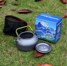 Wholesale Camping Supplies - Aluminum Alloy DS-08 0.8L Portable Outdoor Travel Camping Coffeepot Backpacking Outdoor Teapot Camping Cooking Supplies CCA6564 50pcs