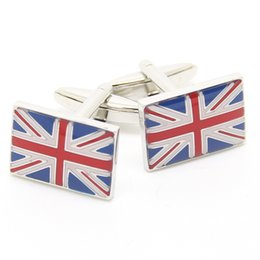 Wholesale Personalised Bag - The Flag of United Kingdom Cuff Link with Black Bag New York Cufflink Wholesale Factory Discount Personalised Cufflink UK 550119