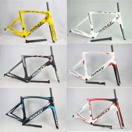 Wholesale Bicycle Bike Clamps Fork Frame - 2017 new all-carbon fiber road bicycle windbreaker frame bicycle frame parts Frameset With Fork+Headset+seatpost+clamp free shipping!