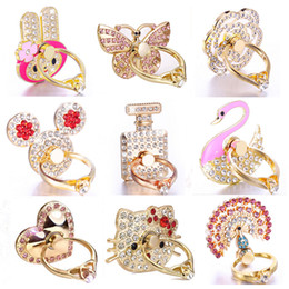 Wholesale Unique Fashion Rings - Bling Diamond Ring Phone Holder Unique Mix Style Cell Phone Holder Fashion For iPhone X 8 7 6s Samsung S8 cellphone stand