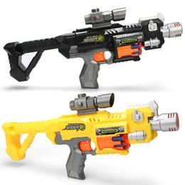 Wholesale Electric Toy Submachine Guns - Children Simulated Infrared Sniper Electric repeating bullet soft bullet Toy Gun Darts Elite Blaster Gift For Children Submachine