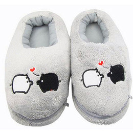 Wholesale Usb Warm Shoes - Wholesale- 2017 New Safe and Reliable Plush USB Foot Warmer Shoes Soft Electric Heating Slipper Cute Rabbits