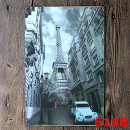 Wholesale Decration For Home - American Car Empire State Building metal Tin sign tinplate vintage metal painting for home bar pubs decration 20x30cm