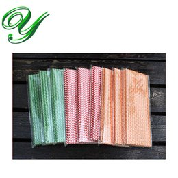 Wholesale Christmas Cupcake Paper - Christmas party straws paper drinking cupcake toppers Halloween decoration wedding kids birthday bar supplies stripes cake decorating tools