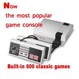 Wholesale Wholesalers Game Console System - Mini TV Video Handheld Game Console Entertainment System Built-in 500 Classic Games For For Nes Games PAL&NTSC