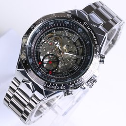 Wholesale Winner Brand Automatic Watch - WINNER Luxury Brand Watches Men Automatic self-wind Fashion Casual Male Sports Watch Clock Full Steel Military Wristwatches