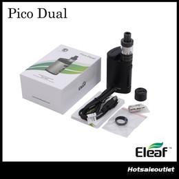 Wholesale Mod Full - Authentic Eleaf Pico Dual TC Full Kit with 200w Pico Dual Box Mod & 2ml Melo 3 Mini Atomizer 100% Original