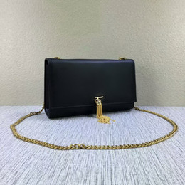 Wholesale Womens Leather Shoulder Purse - New style 24cm womens Fashion Brand Leather Handbags Luxury Brand Name Bags High Quality Leather Shoulder Bags totes purse Gold chain