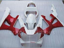Wholesale Honda Cbr 929 Fairings Red - 3 free gifts New ABS Motorcycle Fairing KIT for HONDA CBR900RR 929 00 01 CBR 900RR 2000 2001 CBR900 White Red K1