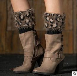 Wholesale Wholesale Boot Socks For Women - Boot Cuffs Fur Knit Women Leg Warmers Winter Crochet Knitted Warmers Toppers Short Acrylon Cover Socks for Girls Women Free Shipping