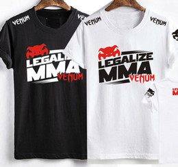 Wholesale Mma Xl T Shirts - MMA Summer short sleeves T shirt UFC Boxing thai fitness Tee's S-3XL