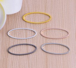 Wholesale Dog Shaped Beads - DIY Jewelery accessories buckle No mouth ring connector loop jump ring jewelry finding oval-shaped Blank ring 16x8mm 500pcs lot