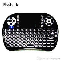 2019 беспроводная клавиатура stb Rii I8 2.4 GHz беспроводная мышь игровые клавиатуры белая подсветка многоцветной подсветкой пульт дистанционного управления для S905X S912 TV Android Box T95 X96