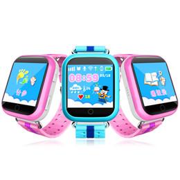 Слежение за детьми онлайн-Q750 kid smart watch 1.54 дюймовый сенсорный экран SOS анти-потерянный устройство отслеживания SOS вызов GPS Wifi Bluetooth Sim-карты детские часы