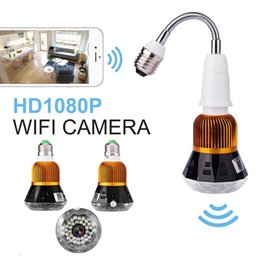 Wholesale Remote Spy - WIFI Led Bulb Hidden IP camera P2P Full HD 1080P Night Vision Spy Home Security lamp Cam Remote Monitoring video recorder CCTV Camera