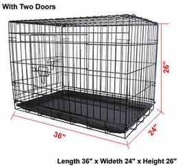 Wholesale 36 Doors Wire Folding Pet Crate Dog Cat Cage Suitcase Kennel Playpen With Tray